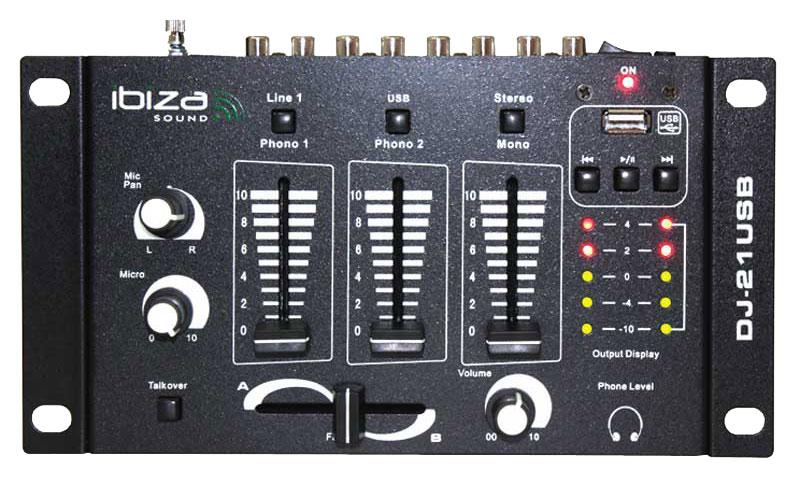 Table de mixage Ibisa sound dj21usb